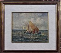 marina con barche by pratella attilio