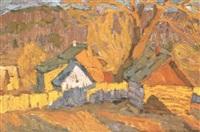 champs en automne by vladimir bobrov