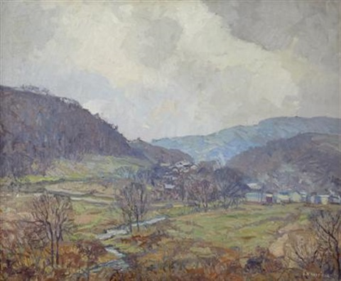 aetna valley by edward willis redfield
