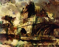 parisian bridge by olivier foss