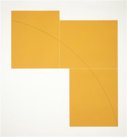 b orange c yellow set of 2 by robert mangold