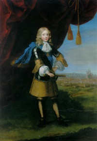 portrait of vittorio amedeo ii, duke of savoy, later king of sardinia, in a breastplate over a gold-embroidered tunic by paul mignard