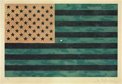 flag moratorium by jasper johns