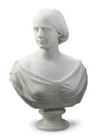bust of mary e. strong by benjamin (paul) akers