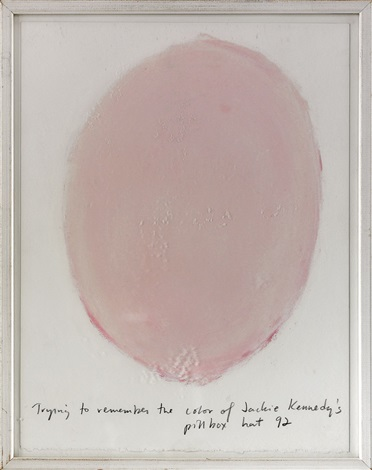 trying to remember the color of jackie kennedys pillbox hat 92 by spencer finch