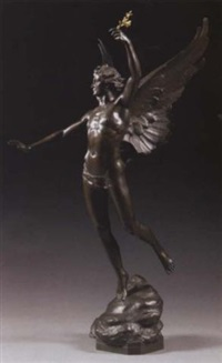 le triomphe (an allegorical winged figure of triumph) by horace daillion