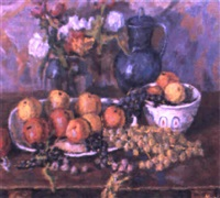nature morte aux raisins by nikolai maksimovich melnikov