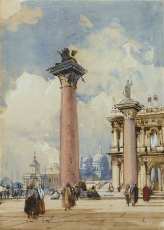 the piazzetta venice by richard parkes bonington