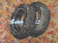 burn it i (diptych) by ayman baalbaki