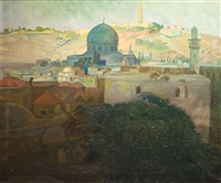 view of old city, jerusalem by saul raskin