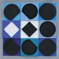 topaze noire positif by victor vasarely