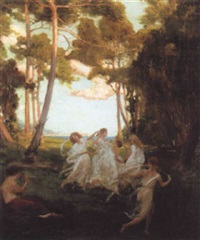 spring dance by george percy r. e. jacomb-hood