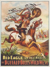 red eagle. un des braves de buffalo bill's west by posters: buffalo bill