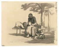 une grand'maman by honoré daumier