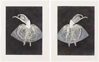 ballerina (stretching right, left) (2 works) by kiki smith