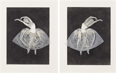 ballerina stretching right left 2 works by kiki smith