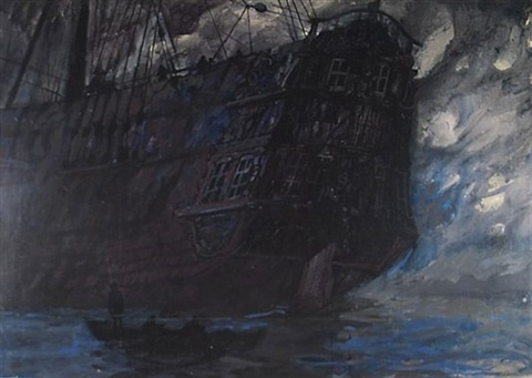 ghostly ship bk illus for benito cereno by herman melville by robert shore