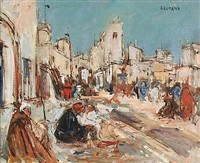marchands à tunis by joseph raumann