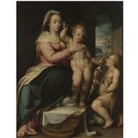 madonna and child with the infant saint john the baptist by lorenzo sabatini