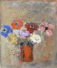 flowers in a vase by gandy brodie