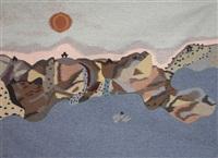 woven tapestry titled qaqqiltuq - camp site by malaya akulukjuk
