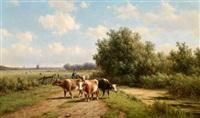 kühe am heimweg by willem vester