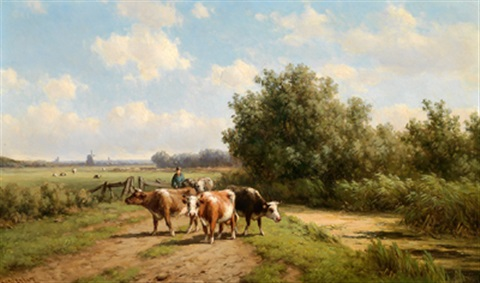 kühe am heimweg by willem vester