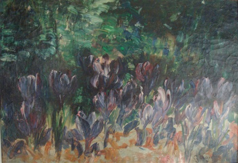le champ de crocus by georgette agutte
