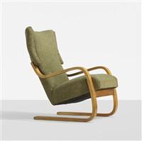 cantilevered armchair, model 36/401 by alvar aalto