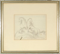 figure and horse (double sided) by giovanni battista tiepolo