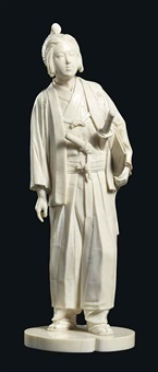 standing figure of a samurai by homei