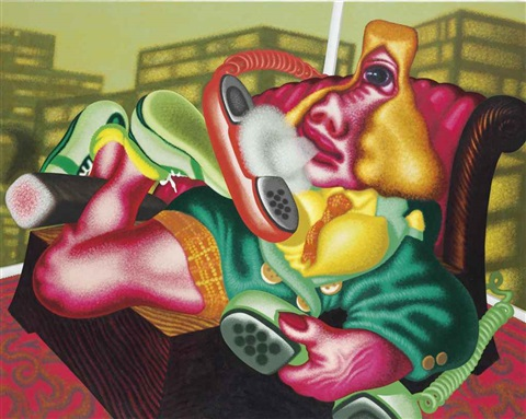 business woman by peter saul