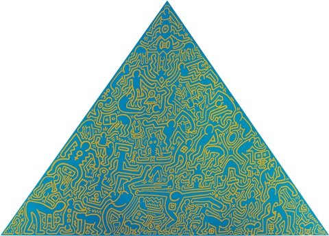 pyramid by keith haring