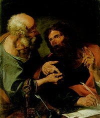 saints peter and paul by gioacchino assereto