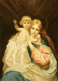 the madonna and child by leonie monetti