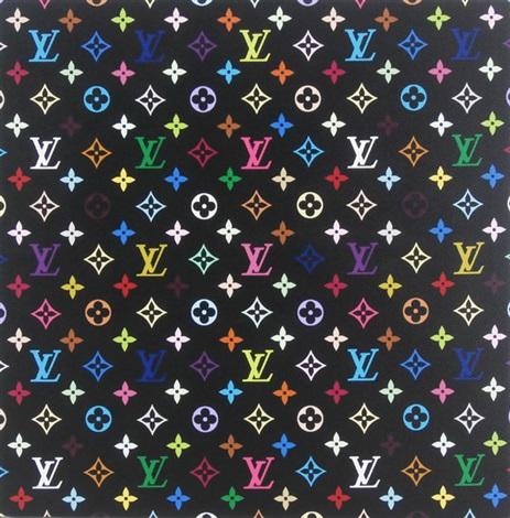 monogram multicolore black by takashi murakami