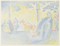 les champs élysées (from pan) by henri edmond cross