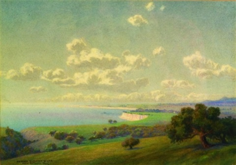 from reservoir hill santa barbara california by george elbert burr