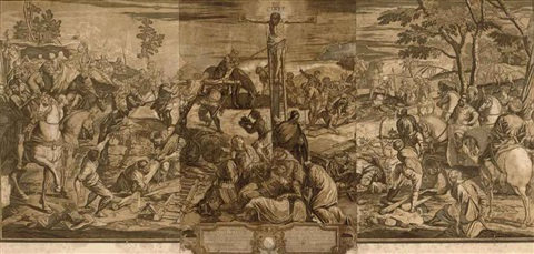 the crucifixion after tintoretto the marriage feast at cana after veronese smllr 2 works by john baptist jackson