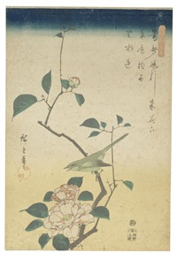 comprising three prints by ando hiroshige