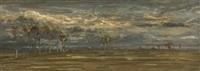 orage sur la plaine by antoine chintreuil
