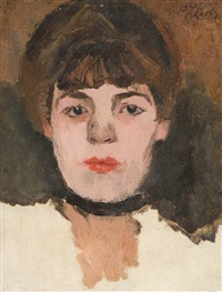 damenportrait by isaac israels