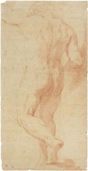 studio per figura maschile stante vista di schiena by annibale carracci