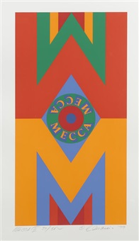 mecca i; ii; iii (3 works) by robert indiana