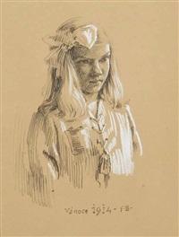 a portrait of a girl by frantisek bilek