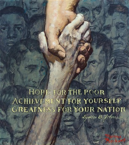 study for how goes the war on poverty by norman rockwell on artnet