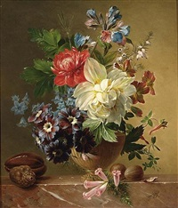 a flower still life by arnoldus bloemers