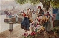 flower sellers, amsterdam by adrian van der hest