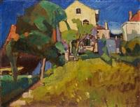 maison de l'artiste, rue langeveld à uccle (fauvisme) by joseph albert