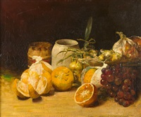 stillleben mit früchten und zwiebeln by guillaume romain fouace